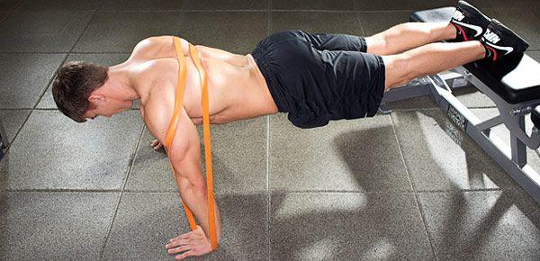 prendre du muscle avec une bande élastique