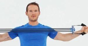 exercice pectoraux avec élastique